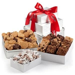 Mrs Fields Gift Card - mrs fields 174 elegant cookie gift tower christmas gifts