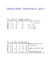 Td Character Table 101210 lecture 6 welcome to chemistry 120a lecture 5 character