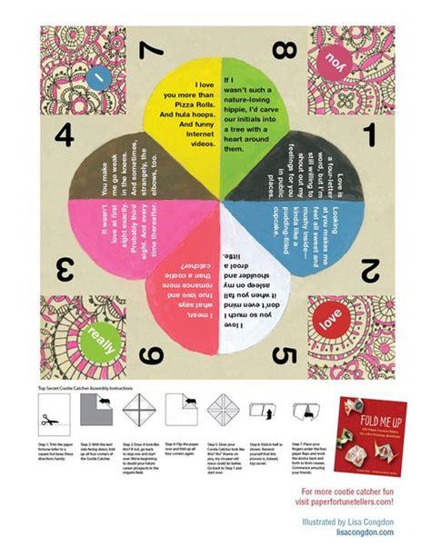 printable christmas fortune teller catcher paper fortune teller and valentines day on pinterest