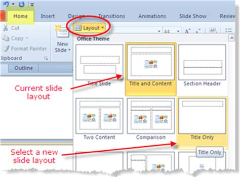 How To Use Powerpoint 2010 Slide Layouts | how to use powerpoint 2010 slide layouts