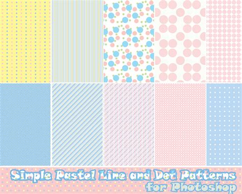 line pattern free download photoshop pastel line and dot patterns by probablycrafting