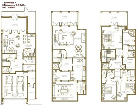 town houses floor plans story townhouse floor plans story townhouse floor plan