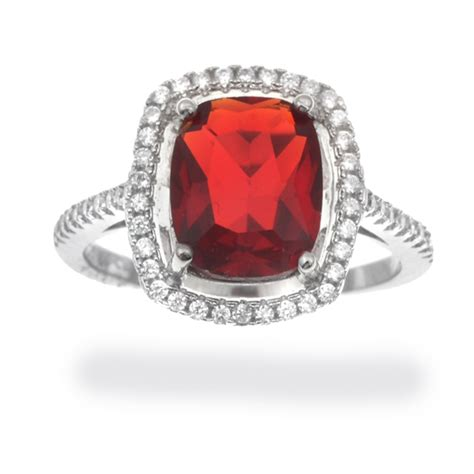 simulated sapphire ruby and emerald rings