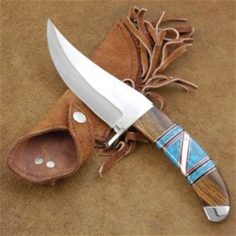 Handmade American Knives - american handmade turquoise stainless c knife by