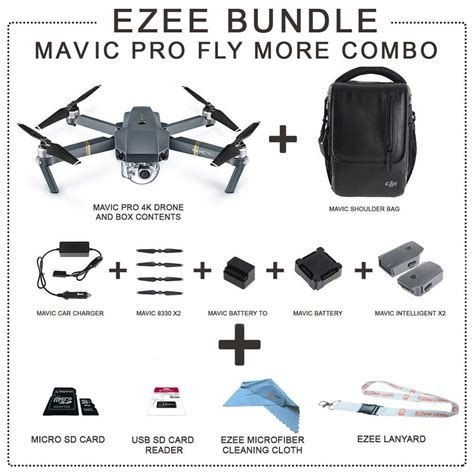 Bundle Fly More Combo Dji Mavic Pro dji mavic pro fly more combo more value starter bundle ezee mavic world