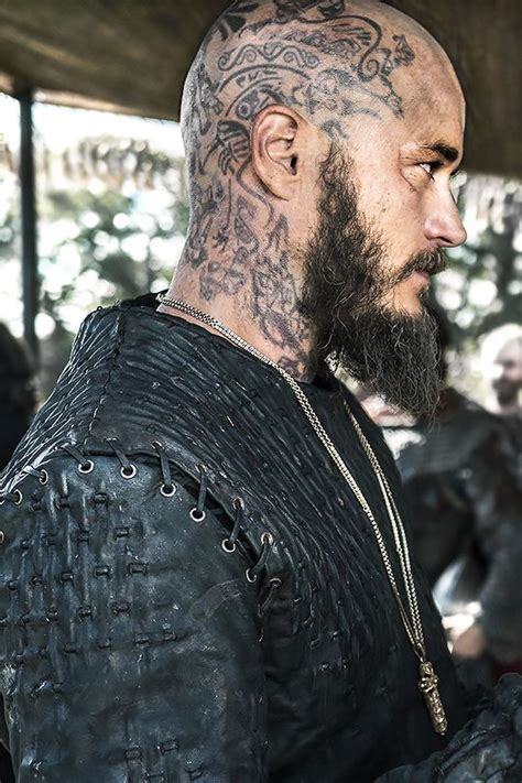 What Are Ragnar Lothbroks Head Tattoos | norse forge lecterlannister ragnar breaking point x