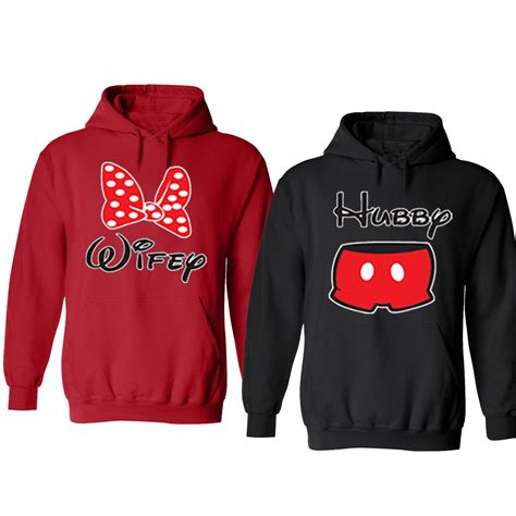 Couples Sweatshirts Sale Matching Disney Hoodies Hubby Husband And