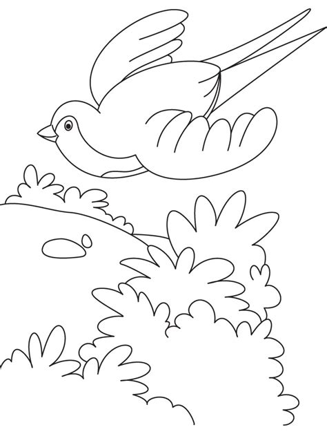 bird flying cartoon az coloring pages