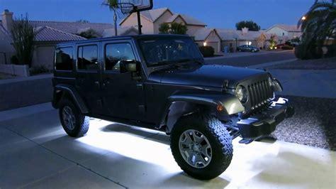 jeep jk rock lights rock lights as approach lighting on jeep jk unlimited