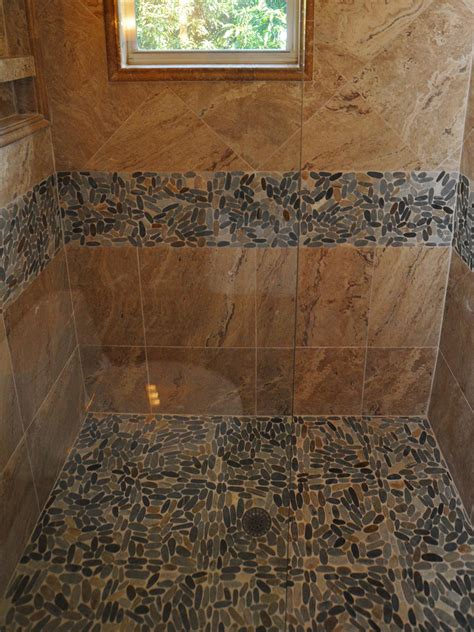 pebble stone tile bathroom ideas 30 cool pictures and ideas pebble shower floor tile