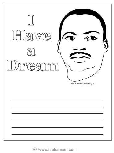 mlk coloring page worksheet i have a dream school