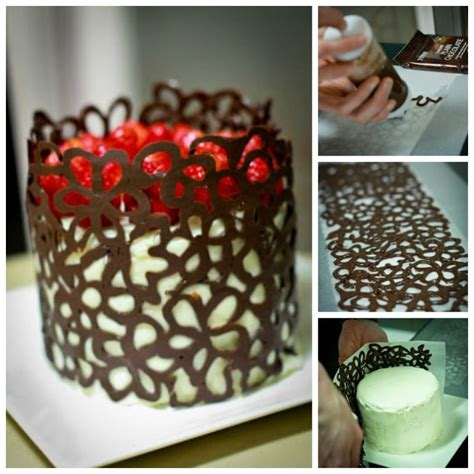 diy chocolate cake creative ideas diy chocolate lace flower cake decoration icreativeideas