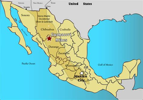 map of western mexico web content