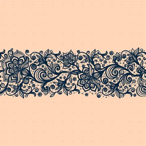 design patterns decorator pattern collections seamless lace pattern with decorative flowers by vikpit