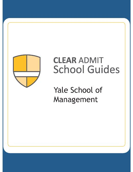 Yale Mba Program by School Guide Yale School Of Management