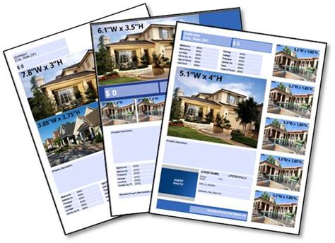 real estate brochure template free free real estate listing flyer templates