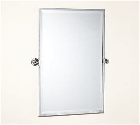 kensington pivot mirror large rectangle chrome