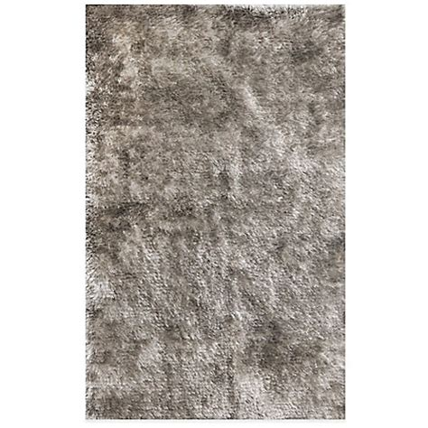 shiny shag rug buy shiny shag 3 foot 6 inch x 5 foot 6 inch area rug in silver from bed bath beyond