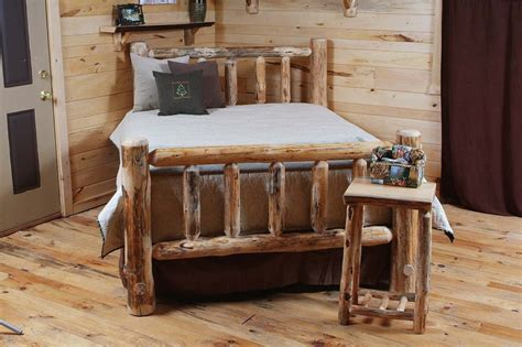 rustic log bed log bedroom furniture rustic decor