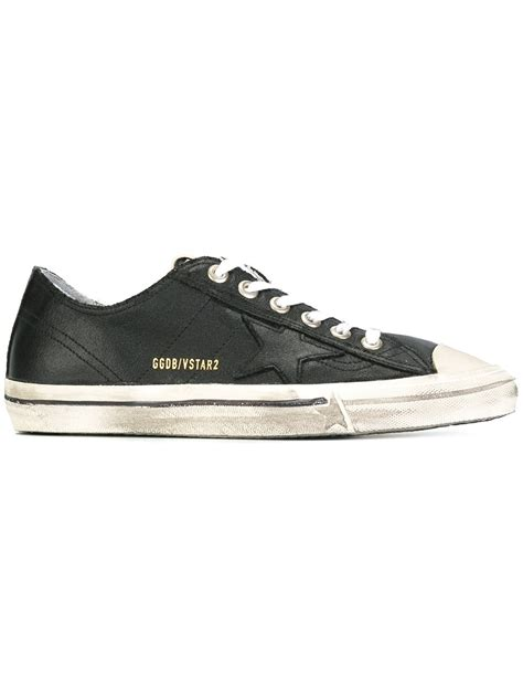 golden goose sale sneakers black calf leather v 2 sneakers from golden goose