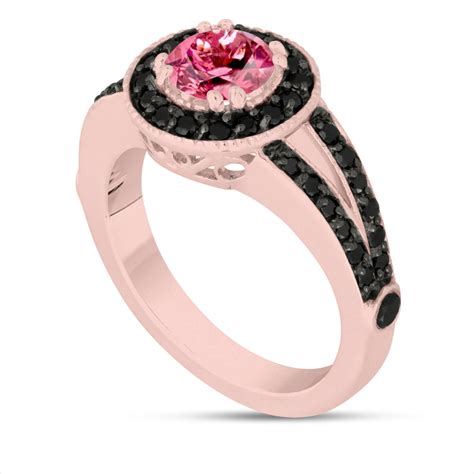 Pink Gold 22 black and pink wedding rings designs trends design trends premium psd vector downloads