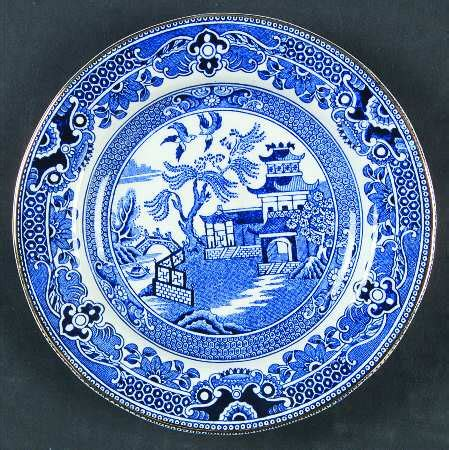 willow pattern with gold trim burgess leigh willow blue gold trim at replacements ltd