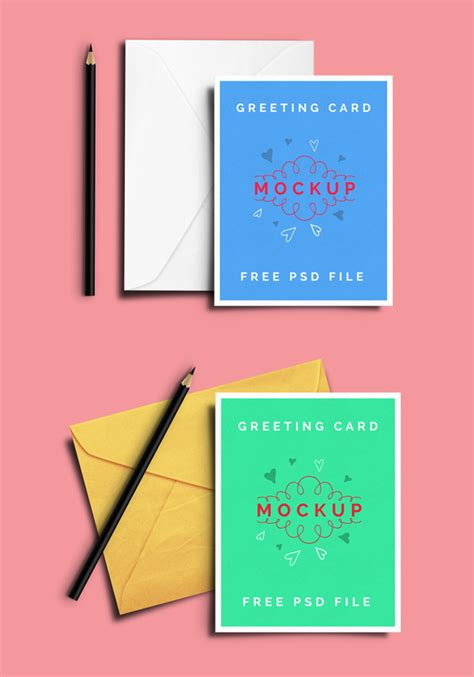 greeting card mockup template free psd mockup templates 28 mockups freebies