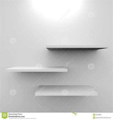 mensole bianche mensole bianche vuote con la lada illustrazione di