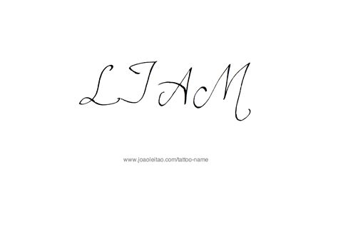 liam tattoo designs liam name designs