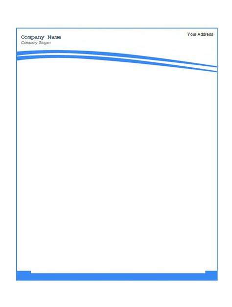 letterhead template word free download letterhead