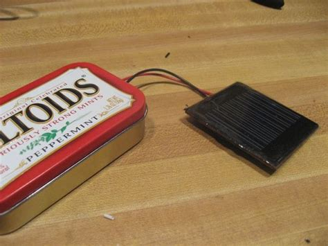 diy solar phone charger make a solar phone charger from an upcycled altoids can