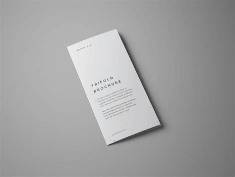 free design mockup brochure free realistic trifold brochure mockup free design resources