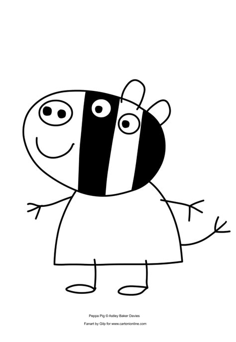 zoe zebra coloring pages