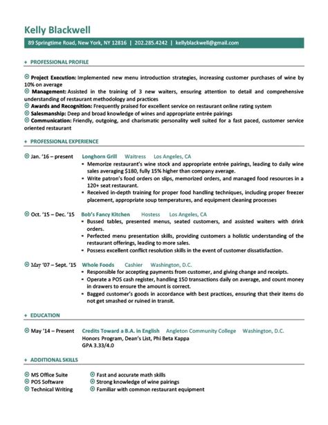 best resume format for hoppers career level situation templates resume genius