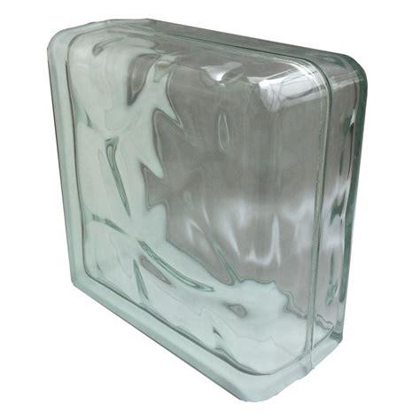 glass block seves nubio 7 75 in x 7 75 in x 3 875 in wave pattern