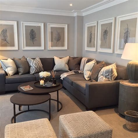 living room setup with sectional