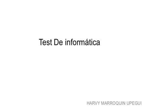 test informatica generale test de inform 225 tica