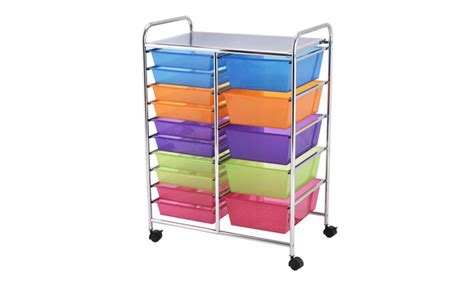 15 drawer organizer cart costway 15 drawer rolling storage cart tools scrapbook