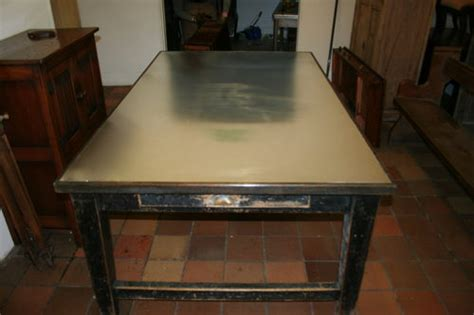 antique pine kitchen table with metal top antiques atlas