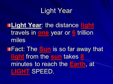 What Is The Distance Of A Light Year by Take A Trip Around The Solar System Ppt