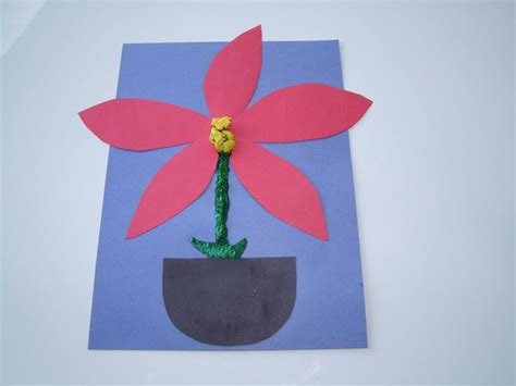 poinsettia craft project song and and easy make a poinsettia craft for