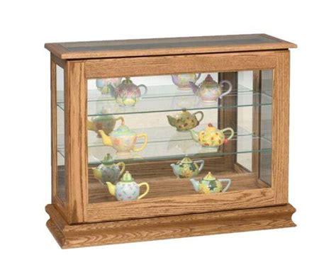 small console curio cabinet  dutchcrafters amish furniture