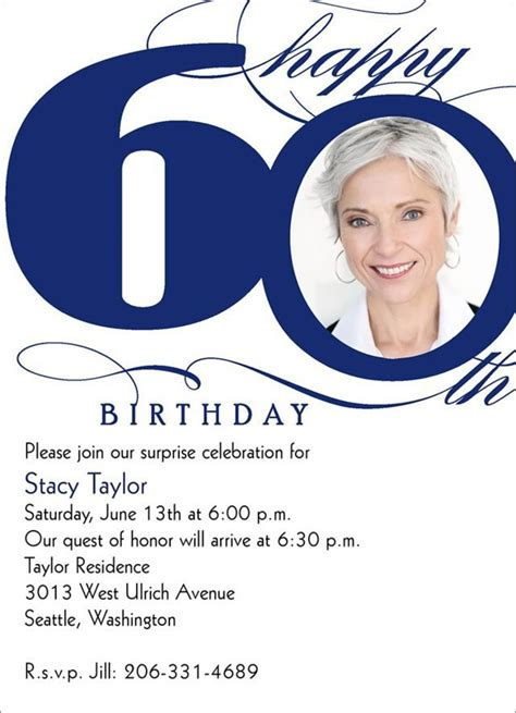 60th birthday invitation templates 60th birthday invitations birthday invitations