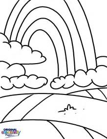 rainbow sky coloring coloring pages original coloring pages