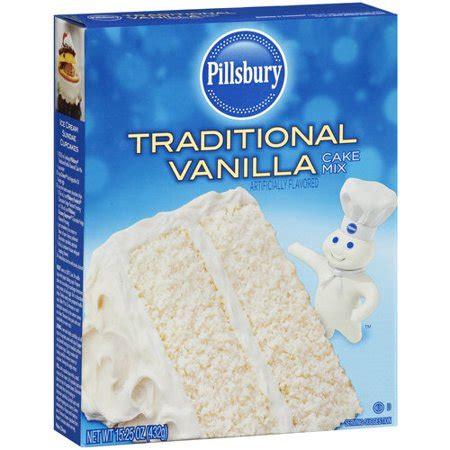 pillsbury traditional vanilla cake mix  oz walmartcom