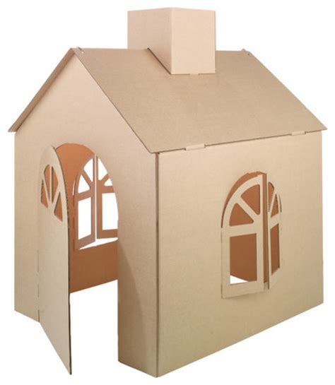 cardboard house cardboard playhouse modern kids toys and games by