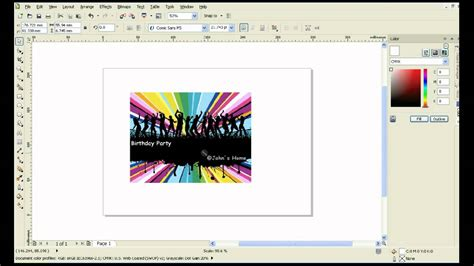 how to design invitation card using coreldraw how to make birthday party invitation or facebook cover