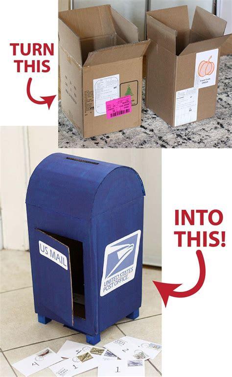 diy cardboard mailbox diy cardboard diy cardboard