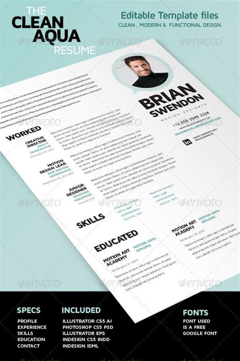 3 cv resume indesign templates clean 22 best artist resumes images on curriculum