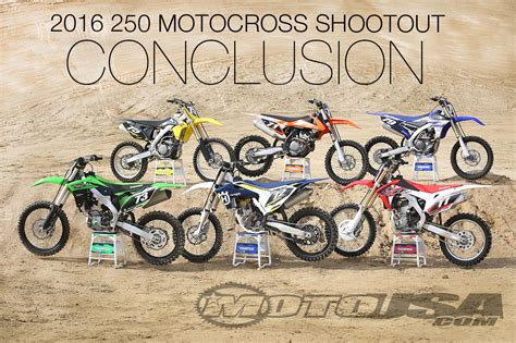 250 motocross bikes 2016 250 motocross shootout conclusion motorcycle usa